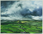 Traditional Pastels Prints - Pendle Hill. Lancashire.England. Print by Jan Farthing