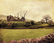Storm Clouds Digital Art Prints - Pendragon Castle Print by Linde Townsend