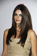 Straight Hair Prints - Penelope Cruz At Arrivals For The Print by Everett
