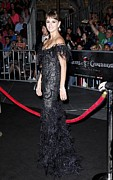 Ostrich Feathers Prints - Penelope Cruz Wearing A Marchesa Dress Print by Everett