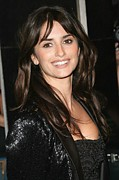 Penelope Cruz Framed Prints - Penelope Cruz Wearing A Marchesa Jacket Framed Print by Everett