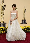 Ball Gown Acrylic Prints - Penelope Cruz Wearing A Vintage Balmain Acrylic Print by Everett