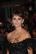 Penelope Cruz Framed Prints - Penelope Cruz Wearing Chopard Earrings Framed Print by Everett