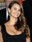 Diamond Earrings Framed Prints - Penelope Cruz Wearing Yossi Harari Framed Print by Everett