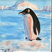 Sunset Ceramics Originals - Penguin at Sunset by Dy Witt