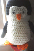 For Tapestries - Textiles Originals - Penguin by Sarah Biondo