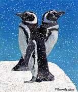 Patricia Barmatz - Penguins in the Snow