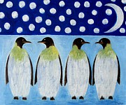 Avian Greeting Cards Posters - Penguins Poster by Patrick J Murphy