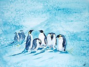 Penguins Prints - Penguins Print by Zaira Dzhaubaeva