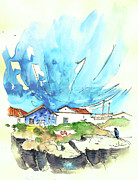 Atlantic Drawings Prints - Peniche in Portugal 04 Print by Miki De Goodaboom