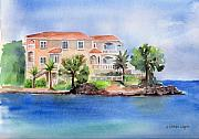 Architecture Paintings - Peninsula Dreamhouse by Arline Wagner