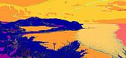West Indies Digital Art Prints - Peninsula Orange Print by Ian  MacDonald