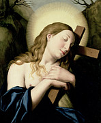 Embrace Paintings - Penitent Magdalene by Il Sassoferrato