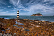 North Wales Digital Art Acrylic Prints - Penmon Lighthouse Acrylic Print by Adrian Evans