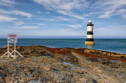 North Wales Digital Art - Penmon Point Lighthouse by Adrian Evans