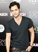 T-shirt Metal Prints - Penn Badgley At Arrivals For In Touch Metal Print by Everett