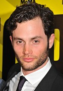 2010s Hairstyles Framed Prints - Penn Badgley At Arrivals For Margin Framed Print by Everett