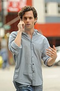 Celebrity Candids - Monday Framed Prints - Penn Badgley, Films A Scene Framed Print by Everett