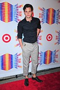 Gray Pants Framed Prints - Penn Badgley In Attendance For Target Framed Print by Everett
