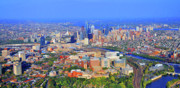 Aerial Photography - Penn HUP Chop Philadelphia 0541 by Duncan Pearson