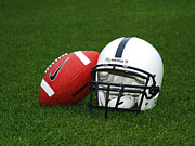 Sports Art Print Prints - Penn State Football Helmet Print by Joe Rokita