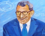 Football Coach Posters - Penn State Joe Paterno Poster by Thi Nguyen