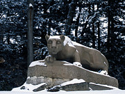 Winter Photos Framed Prints - Penn State The Nittany Lion Shrine Framed Print by Penn State Publications