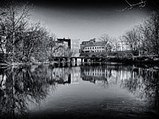 Finger Lakes Posters - Penn Yan Bridges in Black and White Poster by Joshua House