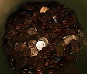 Money Digital Art Originals - Pennies by Rob Hans