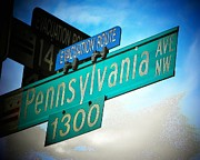 Famous Streets Posters - Pennsylvania Ave Poster by Joyce  Kimble Smith