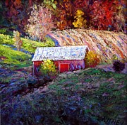 Pennsylvania Pastels - Pennsylvania Blue Mountain Autumn Vista by Bob Richey