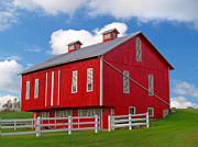 Pennsylvania Dutch Red Barn Print by Brian Mollenkopf
