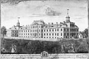 Colonial Man Photo Framed Prints - Pennsylvania Hospital, 1755 Framed Print by Granger