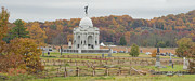 Battle Of Gettysburg Posters - Pennsylvania Monument At With Little Poster by Greg Dale