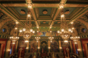 Chandelier Prints - Pennsylvania Senate Chamber Print by Shelley Neff