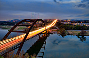Pennybacker Bridge Photos - Pennybacker Bridge at Dusk by John Maffei