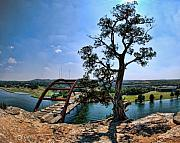Pennybacker Bridge Posters - Pennybacker Bridge Poster by DeeDee Yelverton