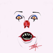 Drawn Framed Prints - Pennywise the Clown Framed Print by Danielle LegacyArts
