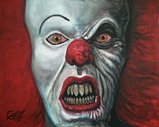 Tim Painting Metal Prints - Pennywise Metal Print by Tom Carlton
