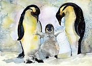 North Pole Originals - Penquin Family by Mindy Newman
