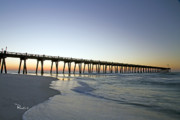 Florida Panhandle Prints - Pensacola Pier at Sunrise 2 Print by Richard Roselli