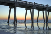 Pensacola Pier At Sunrise 3 Print by Richard Roselli