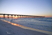 Pensacola Fishing Pier Framed Prints - Pensacola Pier at Sunrise 5 Framed Print by Richard Roselli