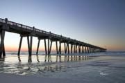 Pensacola Pier At Sunrise Print by Richard Roselli