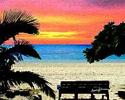 Sunset Digital Art Originals - Pensive Place 2 by Anthony Caruso