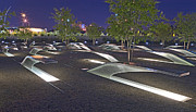 11th Green Photos - Pentagon Memorial to those killed on September 11 2001 by Brendan Reals