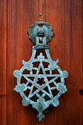 Entrance Door Photo Framed Prints - Pentagram knocker Framed Print by Fabrizio Troiani