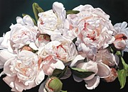 Larger Paintings - Peonies 220 x 160 cm by Thomas Darnell