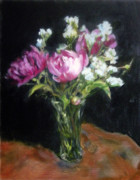 Jill Brabant - Peonies in a Glass Vase