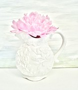 Histogram Prints - Peony in a Pitcher Print by Marsha Heiken